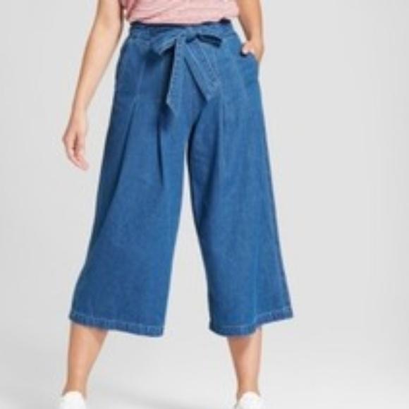 fa224b2edb63 Universal Thread Pants | Womens Highrise Tie Front Wide Leg Jeans ...